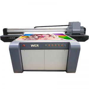 3D hatású UV síkágyas nyomtató, kerámia nyomtató, csempe nyomógép Kínában WER-EF1310UV