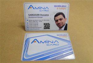 Business Név kártya prining minta az asztali UV nyomtató -A2 méret WER-D4880UV
