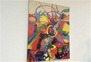 Canvas minta nyomtatott A1 méretű UV nyomtató WER-EP6090UV